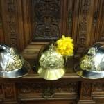Старинная медь - каска пожарного